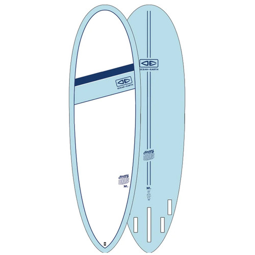 Happy Hour Surfboard   Ocean and Earth   Epoxy   Mid-Length