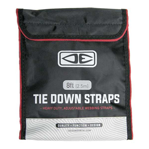 Ocean and Earth Premium Tie Down Straps 2.5m   Easily Strap Surfboards to Roof Racks