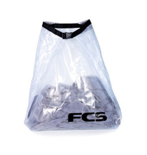 FCS Wet Bag 35L | Clear | Ideal for wet stuff not dripping in car