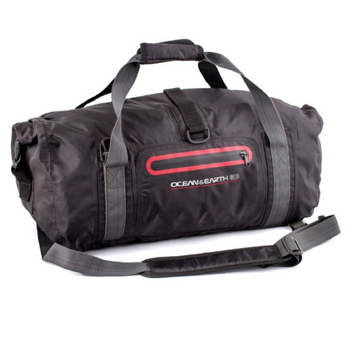 Waterproof Duffle Bags >> Waterproof Duffle Bag 42l Black Surf Travel Bag Ocean And Earth