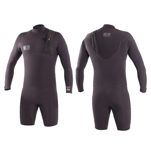 Zero Zip Long Arm Springsuit 2.5:2mm | Charcoal | Surfing Wetsuit | Ocean and Earth