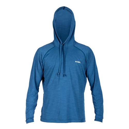 Xcel Ventx Indo Hooded Long Sleeve UV Surf Tee | Relaxed Fit | Loose Fit | Loose Fit Rashie | Rash Vest