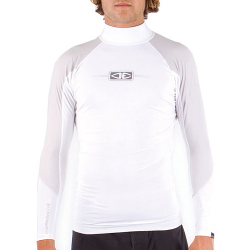 Tropic Long Sleeve UV Surf Rash Top | White/Grey