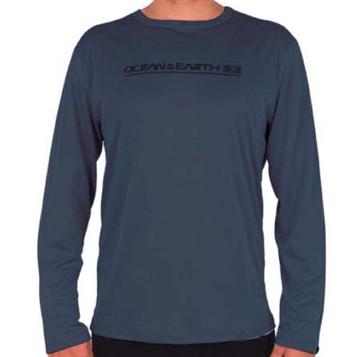 Paddle Shirt Long Sleeve UV Top | Navy | Sun Protection | Relax Fit Beach Shirt | Ocean and Earth