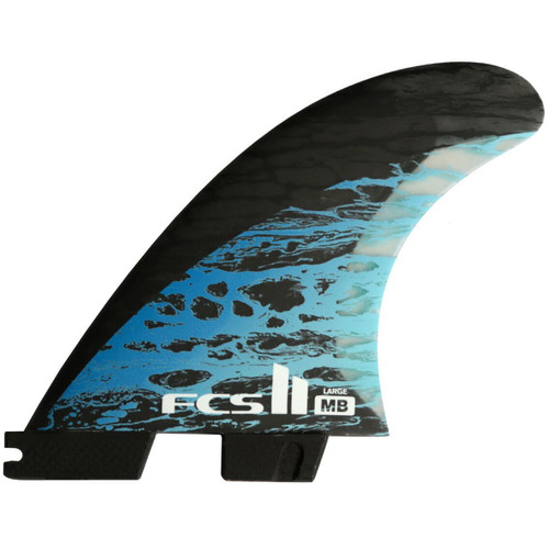 FCS 2 Matt Biolos Large | Thruster Fin Set | Performance Core Carbon
