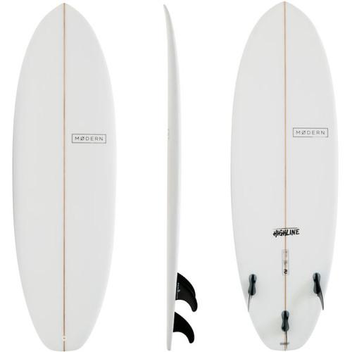 Highline Surfboard | Modern Surfboards | Novice Surfers | Excellent 1st Real Fibreglass Surfboard or Fast Improvement Model
