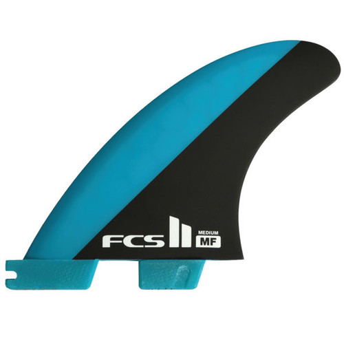 FCS 2 Mick Fanning Medium | Thruster Fin Set | Performance Core | Blue / Black