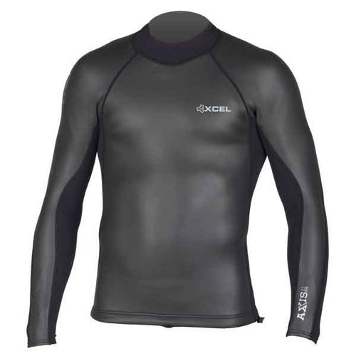 Xcel Axis Smooth Skin Back Zip 2:1mm Long Sleeve Wetsuit Vest | Black
