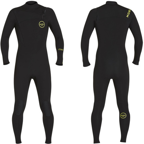 Xcel Comp Steamer 3:2mm | X2 Chest Zip | Black/Yellow | Full Surfing Wetsuit