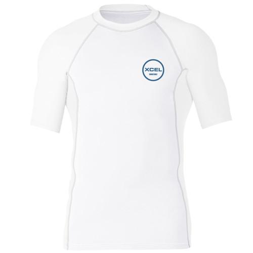 XCEL Huntington 6oz Premium Short Sleeve UV Rash Vest | White