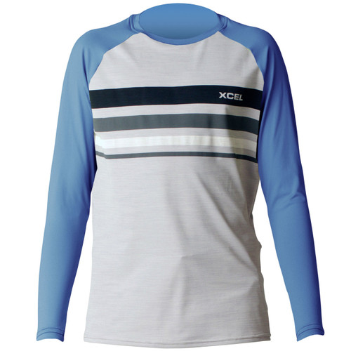 Xcel Youth Ventx Oceanside | Long Sleeve UV Surf Tee | Loose Fit Rashie | Rash Vest | Groms | Kids