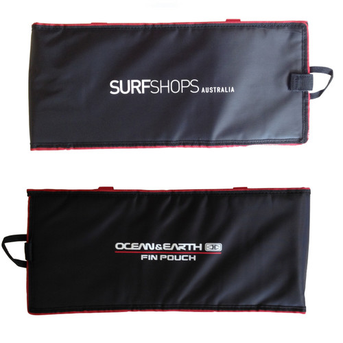 Fin Pouch Wallet | Holds 4 Fin Sets |  Black / Red