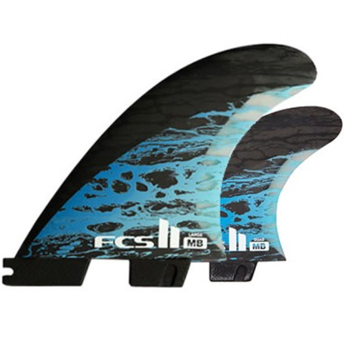 FCS 2 Matt Biolos Large | Tri-Quad Fin Set | Performance Core Carbon