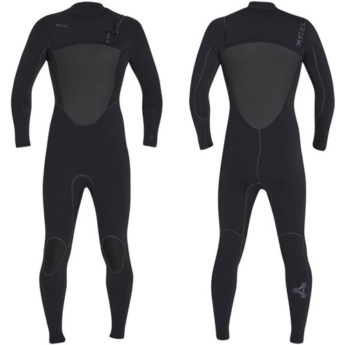 Drylock X Power Seam Surfing Steamer 4:3mm | Chest Zip | Black | Xcel Wetsuits | Warmest Wetsuit on the Market