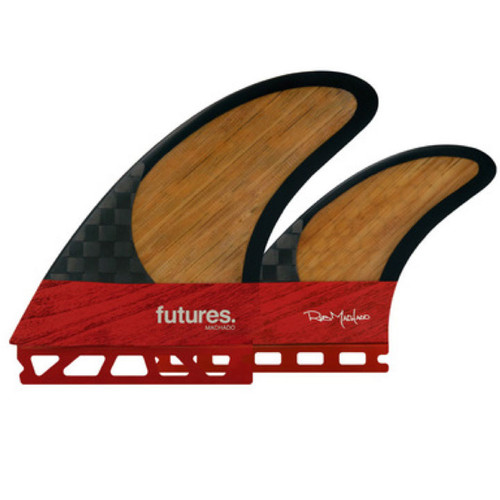Rob Machado  | 2 + 1 Twin Fin Set | Blackstix 3.0 Bamboo | Futures Fins | Suit Fish Type Boards