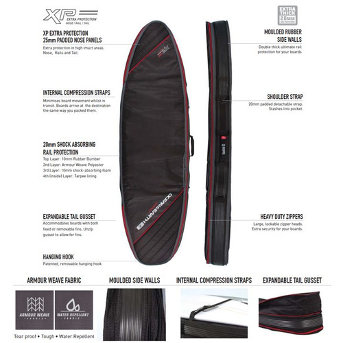 Double Compact Fish Surfboard Travel Cover | Board Bag | 1 to 2 Fish Surfboards | Excellent Surf Travel Option