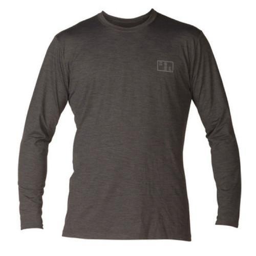 Ventx Robert Long Sleeve UV Surf Tee | Loose Fit Rashie | Rash Vest | Heathered Charcoal