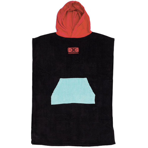 Youth Hooded Towel Surf Poncho | Red Black | Groms | Kids