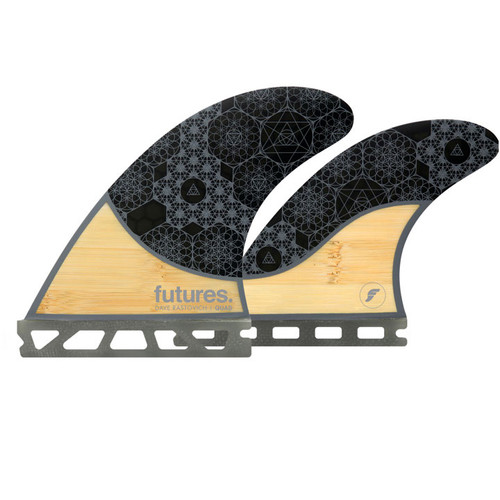 Rasta Medium Quad Fin Set   Honeycomb Bamboo   Futures Fins   Speed and Tail Release