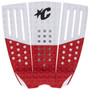 Reliance III Block Tail Pad | Surfboard Deck Grip | Creatures of Leisure | Surfing Traction Pad | Red/ White