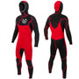 Free-Flex Hooded 5:4mm Wetsuit Steamer| Chest Zip | Full Surfing Wetsuit | Ocean and Earth | Mens