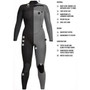 Inside technology listing for the XCEL Womens Comp 3:2mm Steamer Surfing Wetsuit