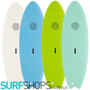 Gnaraloo Flounder Pounder Surfboard Colours For 2021 and 2022. White, Blue, Lime and Turquoise