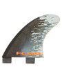 FCS G-XQ | Quad Rear Fin Set | Performance Core | Orange Smoke