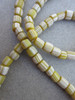Yellow Striped Gooseberry Beads