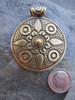 Large Brass Pendant (74x56mm)