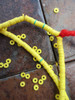 Yellow Vinyl Disk Beads (3x1mm)