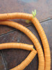 Orange African Vinyl Disk Beads (6x1mm)