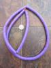 Purple African Vinyl Disk Beads (8x1mm)