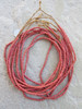 Small Red Ghana Glass Beads - 6 Strands (3x2mm)
