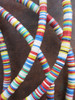 Mixed Vinyl Disk Beads - 3 Strands (4x1mm)