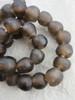 Umber Ghana Glass Beads (14x13mm)