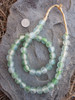 Green Cloud Ghana Glass Beads (13x12mm)