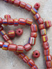 Red Striped Gooseberry Beads