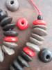 Mixed Ashanti Ghana Glass Disk Beads (14x4-6mm)