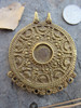 Large Brass Pendant (62x53mm)