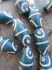 Teal Blue African Fancy Glass Beads