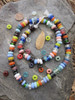 Mixed Ghana Glass Disk Beads (10x4-5mm)
