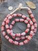Vintage Chevron Glass Beads