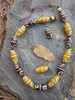 Brown & Yellow African Fancy Glass Beads
