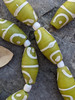 Green & White African Fancy Glass Beads