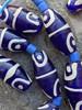Blue African Fancy Glass Beads