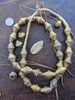 Vintage Large African Brass Bicone Beads