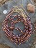 Orange & Blue Ghana Glass Beads - 6 Strands (4x3mm)