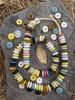 Mixed Ashanti Ghana Glass Disk Beads (14x4-5mm)