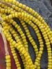 Yellow Ghana Glass Beads - 6 Strands (4x3mm)